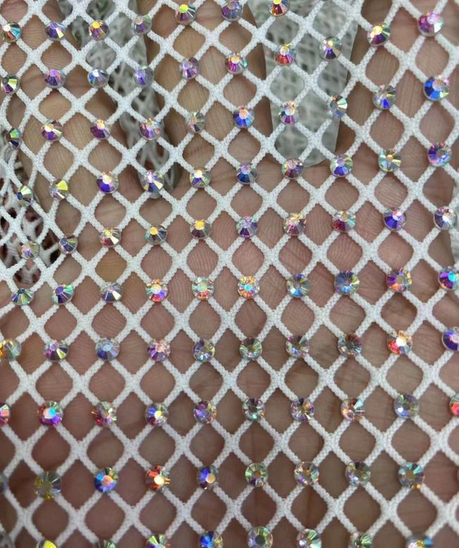 High-end Crystal Rhinestone Net Fabric 231