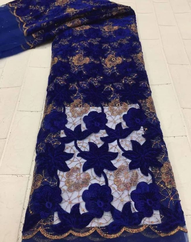 High Quality embroidered Sequins Fabric 087
