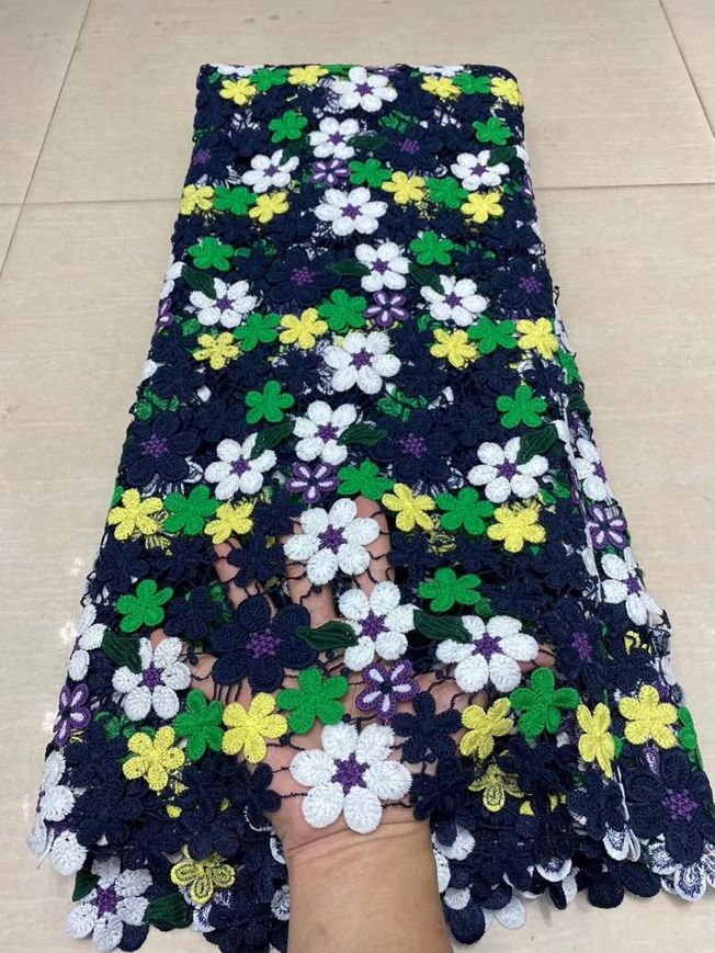 High Quality Flowered soft French Tulle Fabric 228