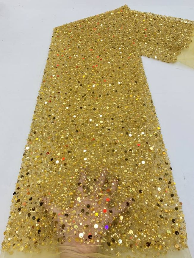 High Quality Tulle Sequins Fabric Material 156