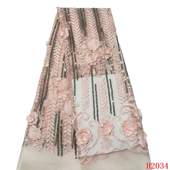 3D French Tulle Fabric 045