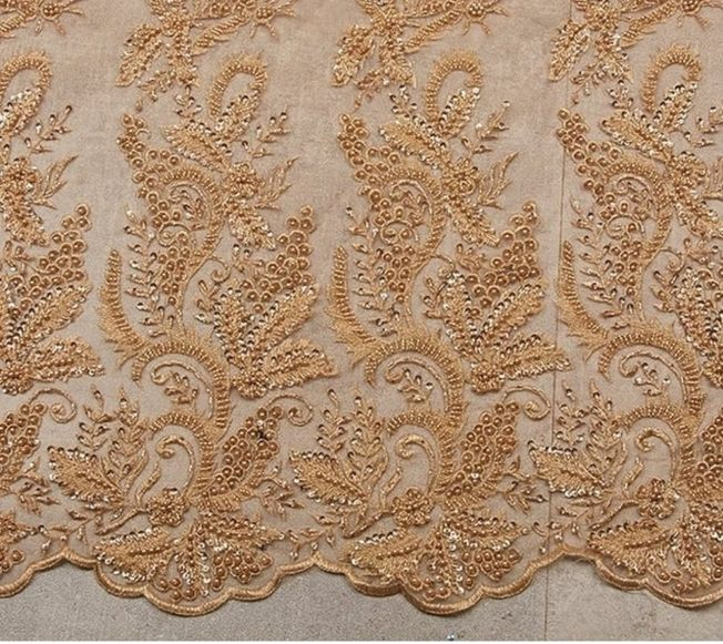 High Quality Handbeaded Fabric Material 037