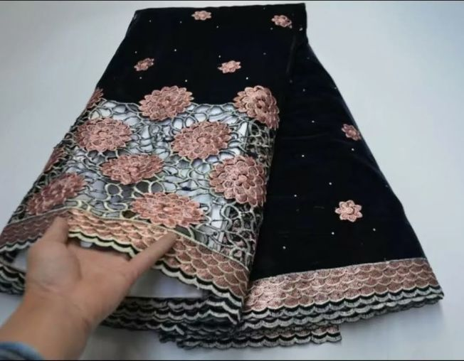High Quality Velvet Sequins Fabric Material 061